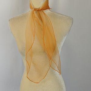 Vintage Sheer Gradient Orange Scarf